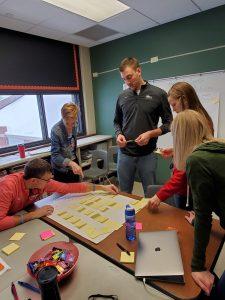 TLC team brainstorming