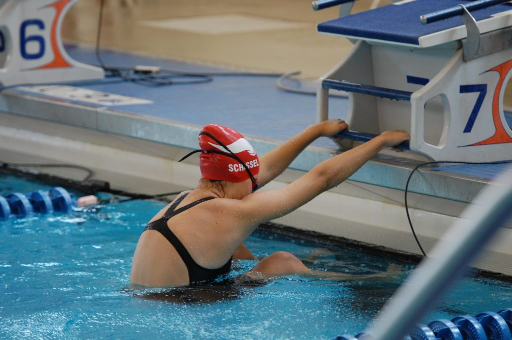 Swimmer ready to take off