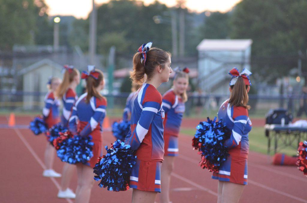 Football cheerleading