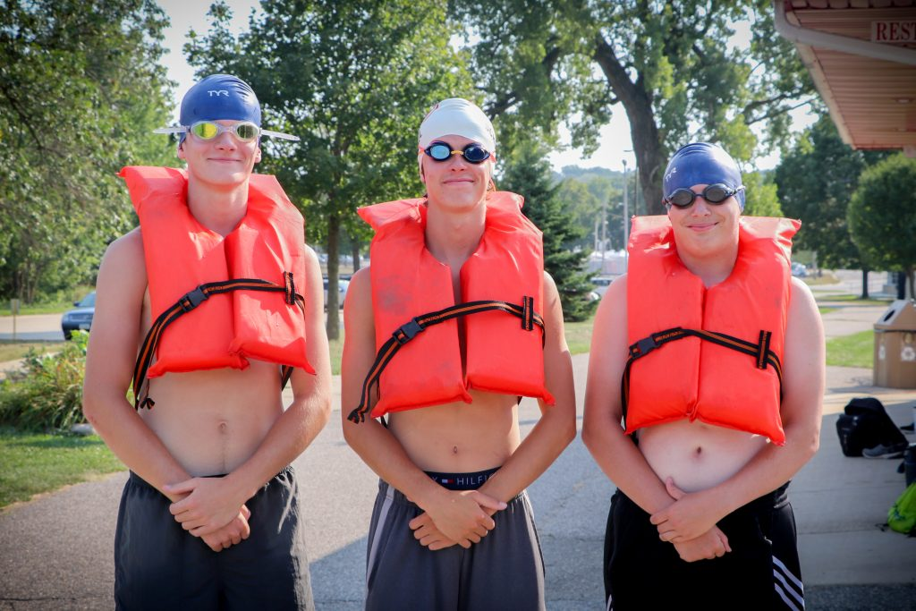 Students in life jackets