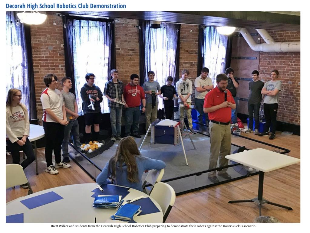 Robotics at Rotary Meeting