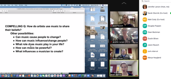 Music PLC peer review of a lesson