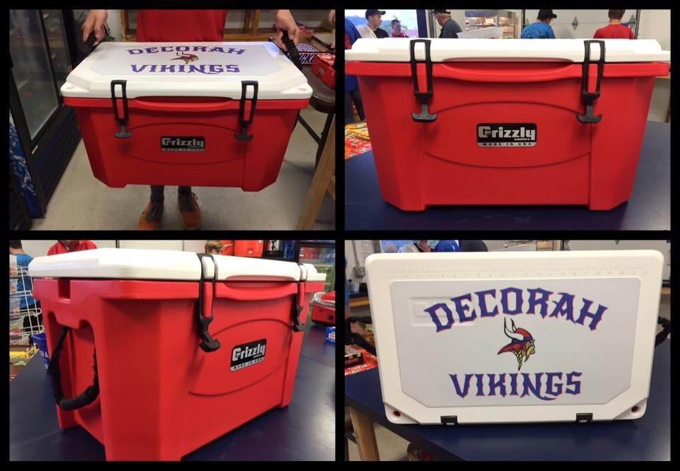 Grizzly cooler raffle prize