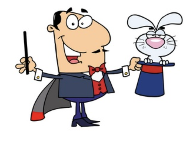 Magician with rabbit