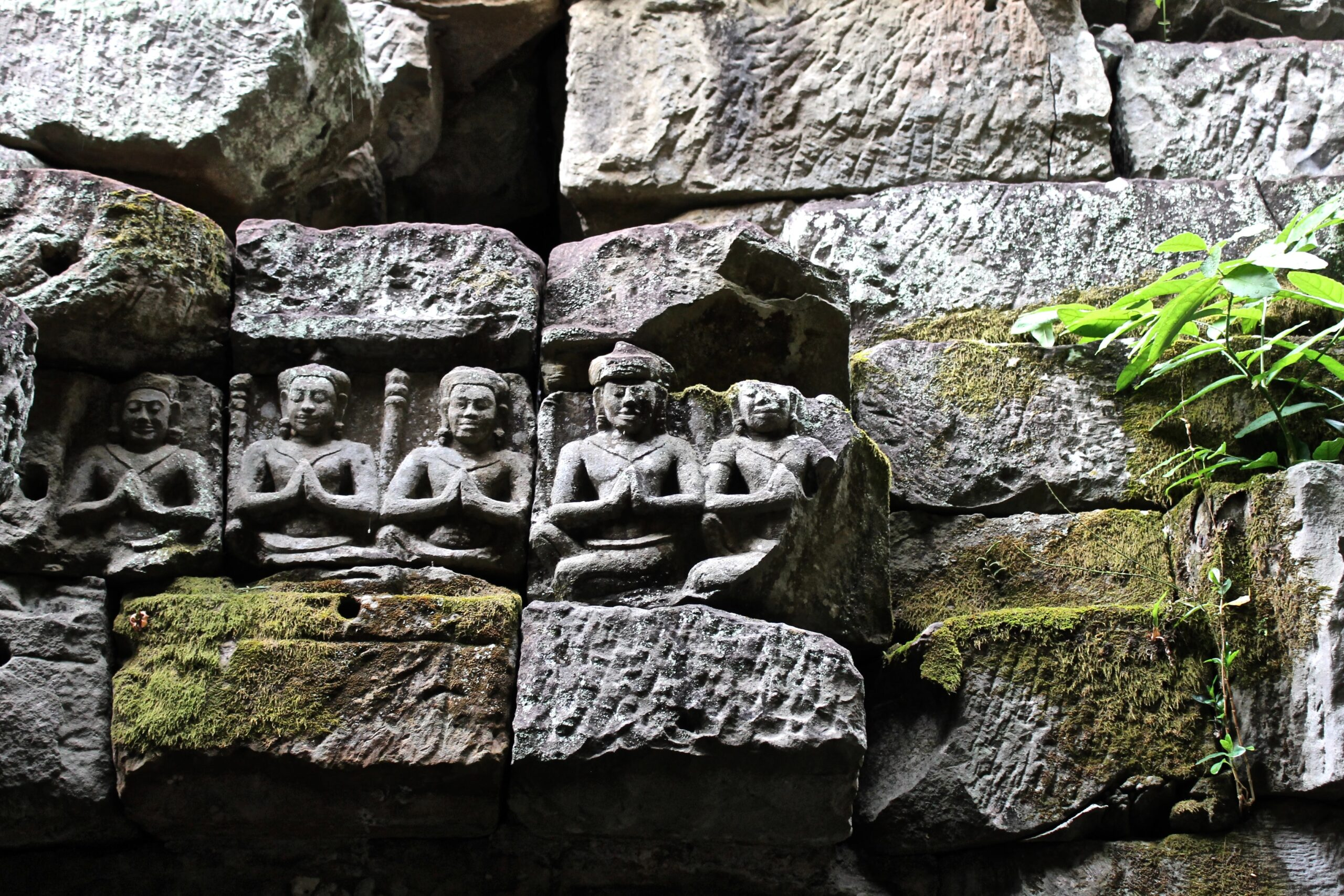Religious carving in stone formation
