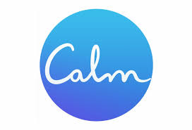Circle with the word calm inside it