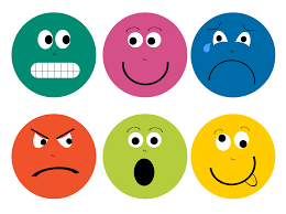 Faces showing different emotions
