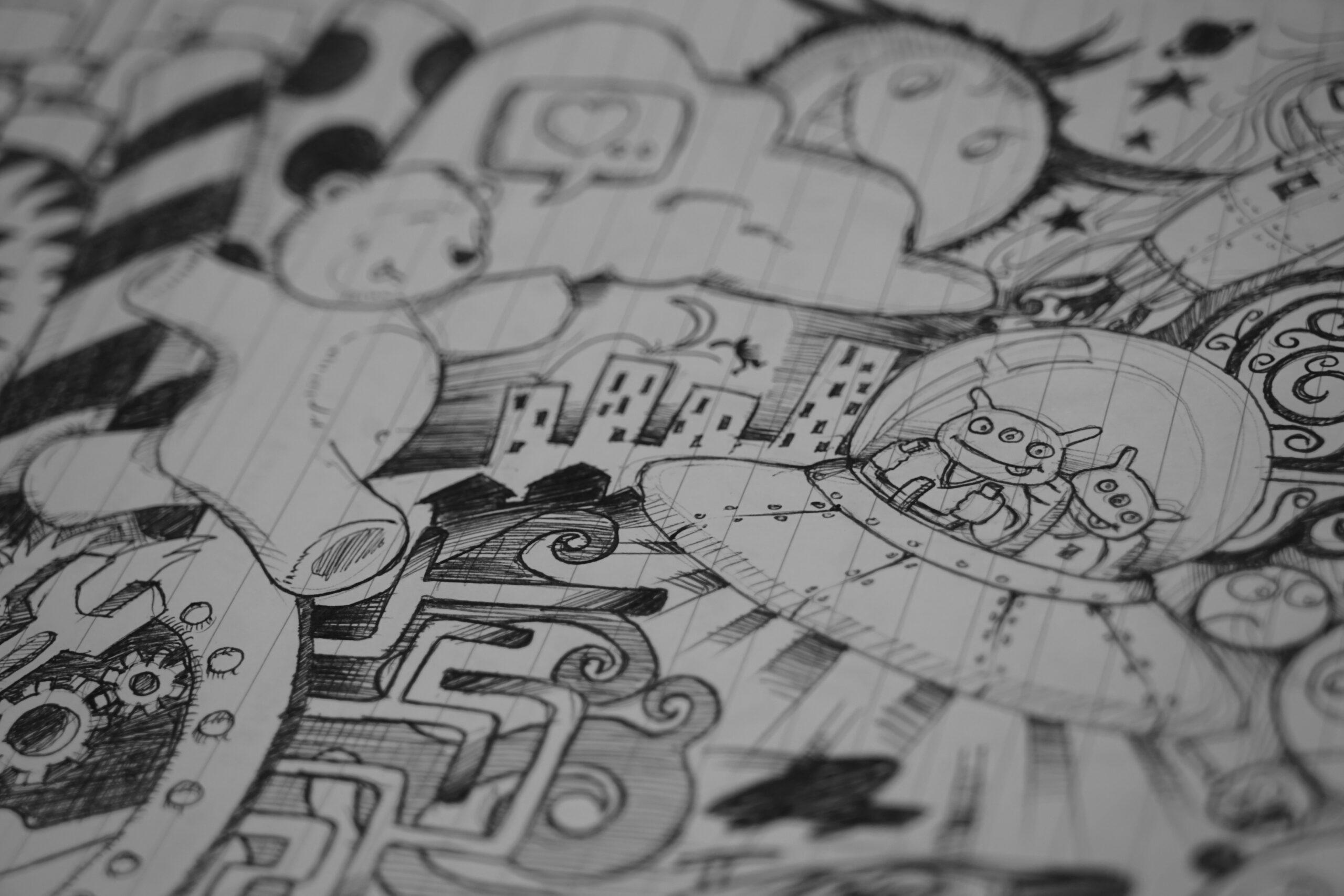 Alien Doodle Art