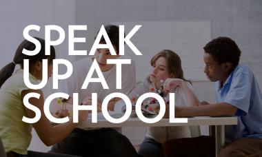 Speak Up at School webinar image