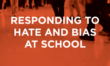 Responding to hate and Bias at School Webinar image