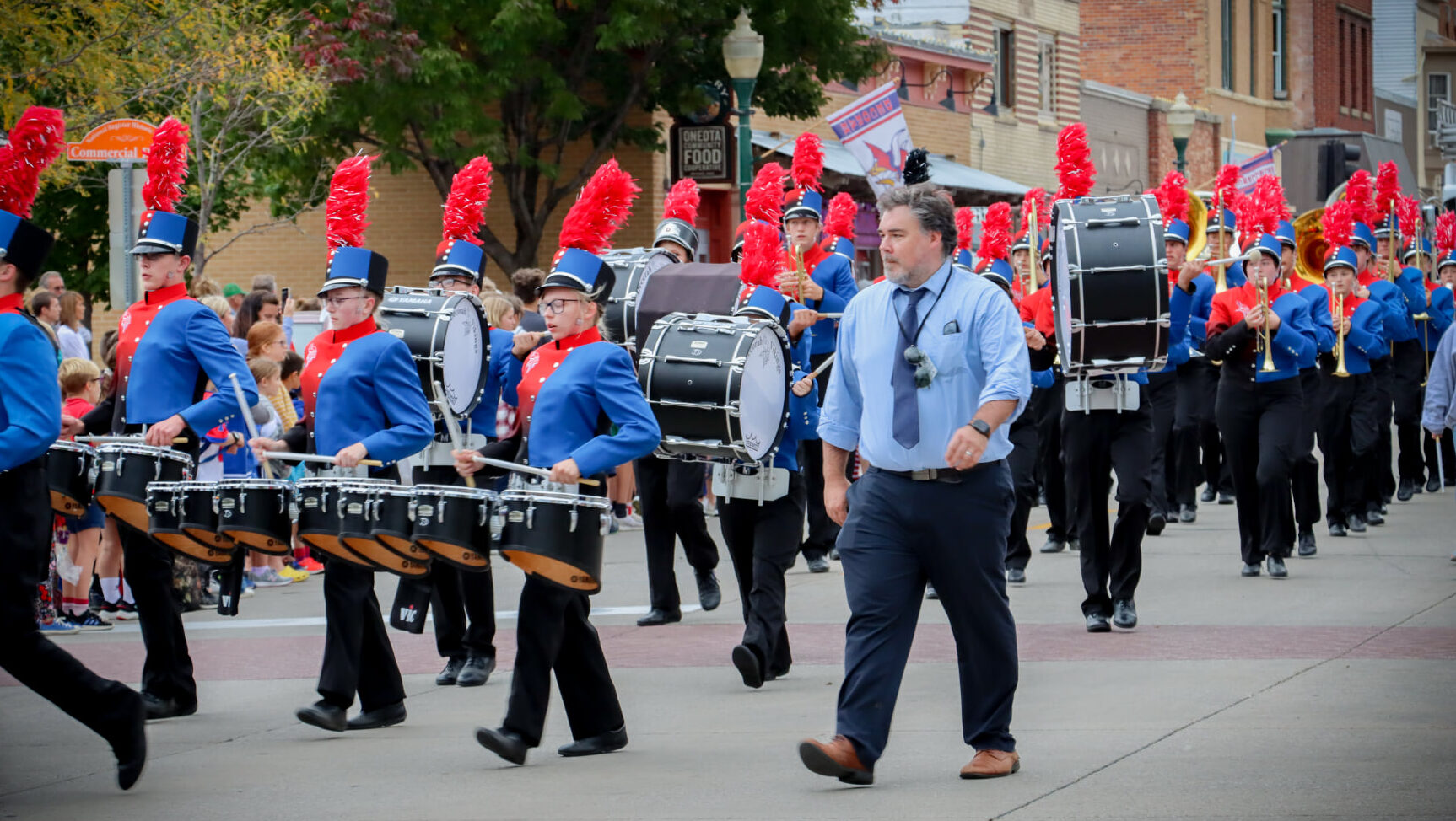 Marching Band in the homecoming parade