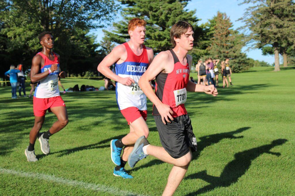 Cross country boys running