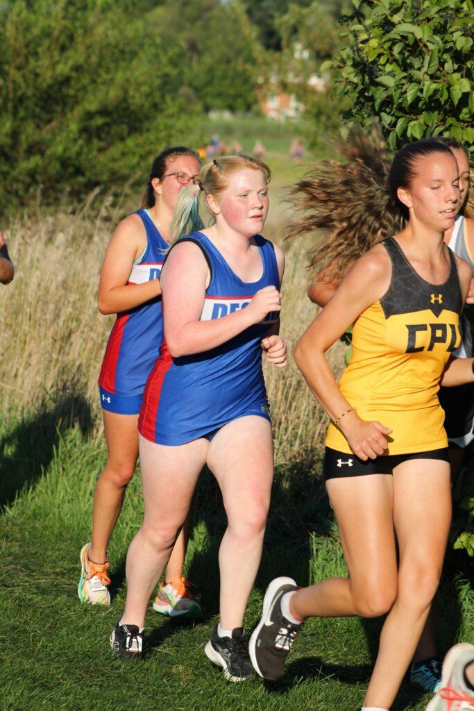Cross country girls running