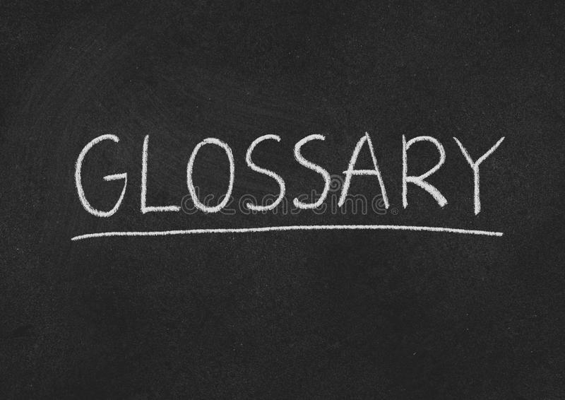 Glossary concept word blackboard background 146401449