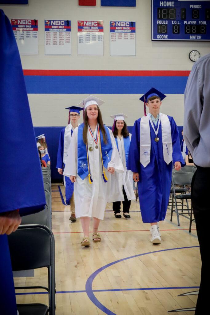 Graduates processing in