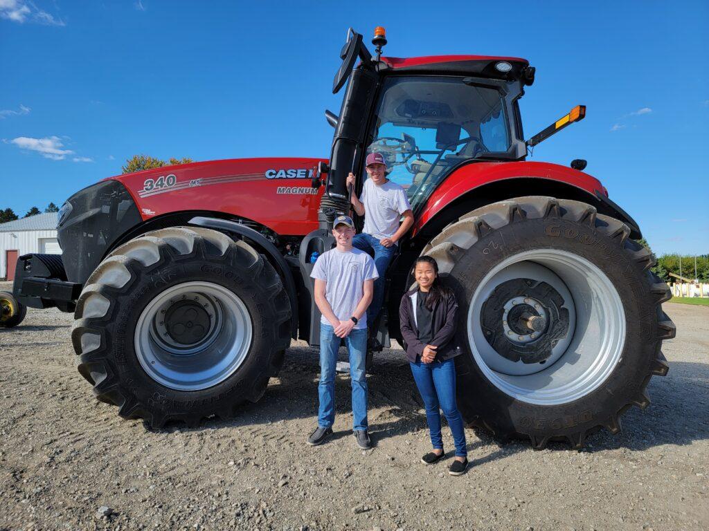 9.22.21 District Soils Decorah FFA Einck Hunter Kruse with tractor
